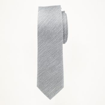 Grey Matte Long Tie