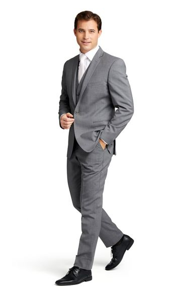 Grey Notch Lapel Suit