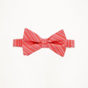 Guava Striped Bow Tie