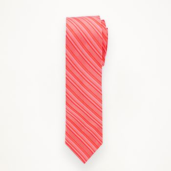 Guava Striped Long Tie