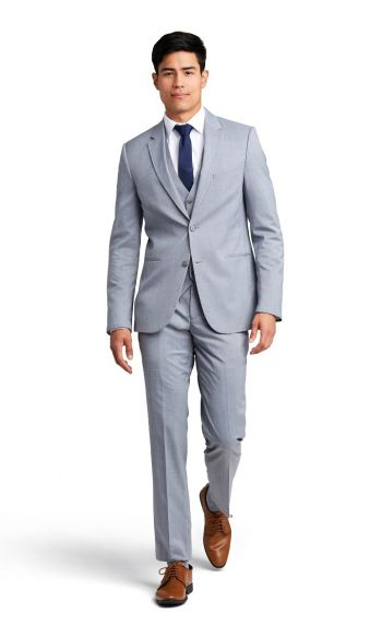 Heather Grey Notch Lapel Performance Suit