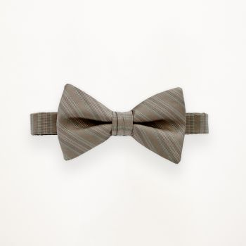 Latte Striped Bow Tie