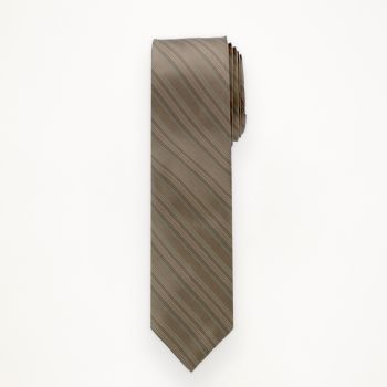 Latte Striped Long Tie