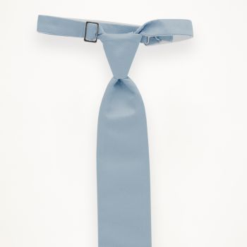 Light Blue Solid Long Tie