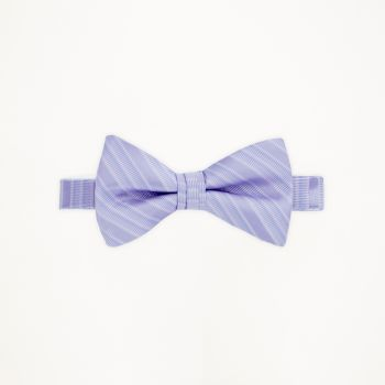 Lilac Striped Bow Tie