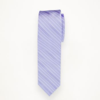 Lilac Striped Long Tie