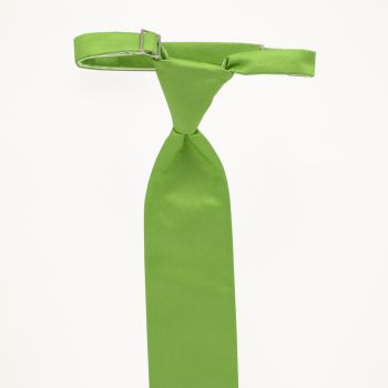 Lime Solid Long Tie