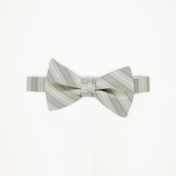 Linen Striped Bow Tie