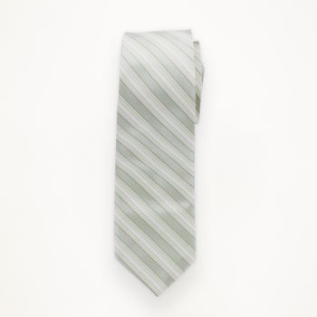 Linen Striped Long Tie