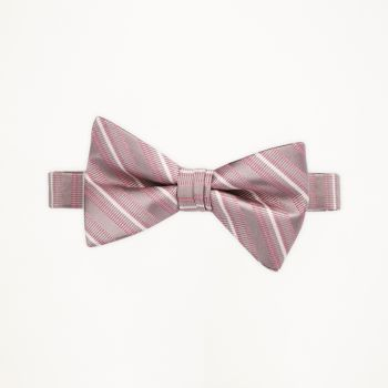 Love's First Blush Striped Bow Tie