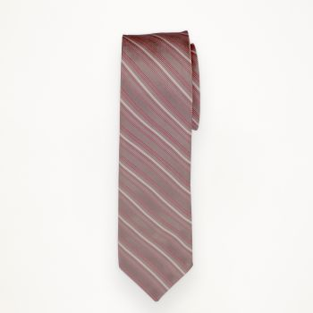 Love's First Blush Striped Long Tie