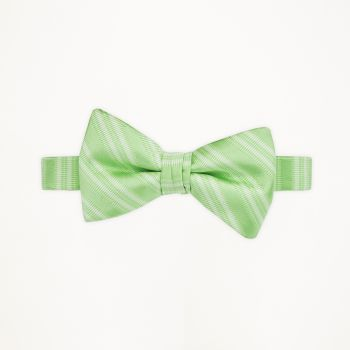 Mint Green Striped Bow Tie