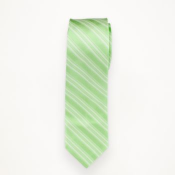 Mint Green Striped Long Tie