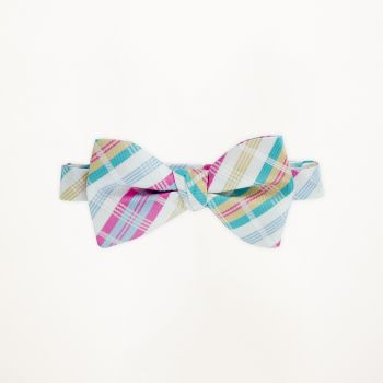 Multi Colored Plaid Bow Tie