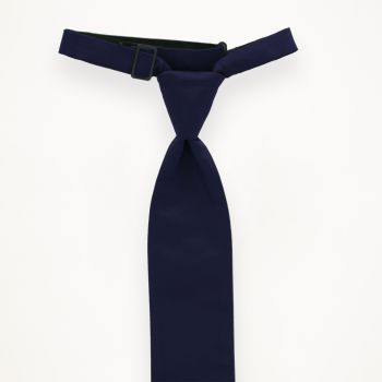 Navy Solid Long Tie