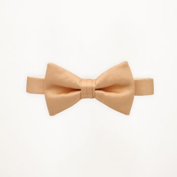 Peach Solid Bow Tie