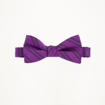 Persian Plum Striped Bow Tie