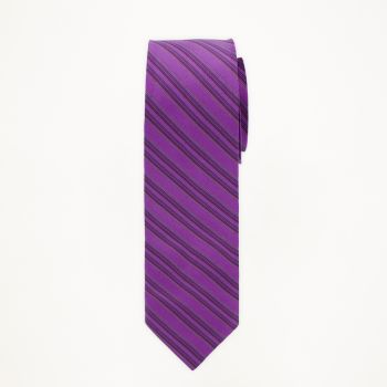 Persian Plum Striped Long Tie