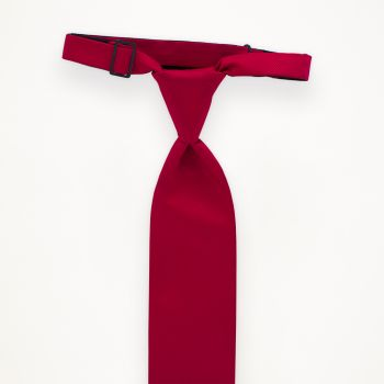 Pomegranate Solid Long Tie
