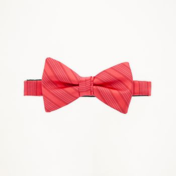 Poppy Striped Bow Tie