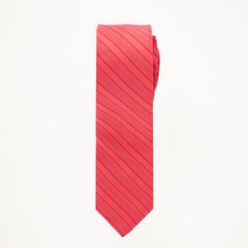 Poppy Striped Long Tie