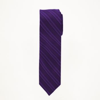 Purple Striped Long Tie