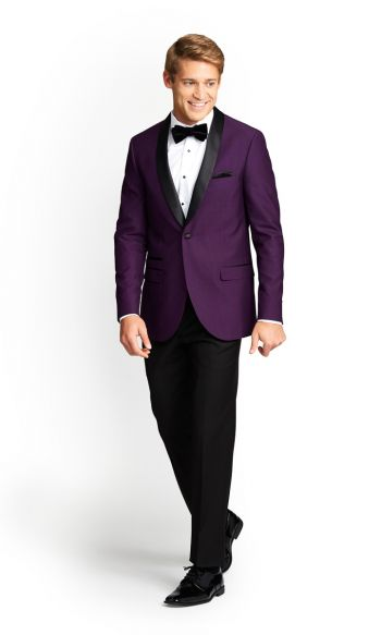 Purple Slim Fit Tuxedo