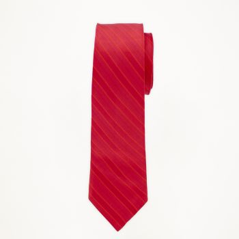Red Striped Long Tie
