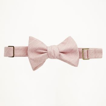Rose Gold Matte Bow Tie
