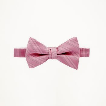 Rose Petal Striped Bow Tie