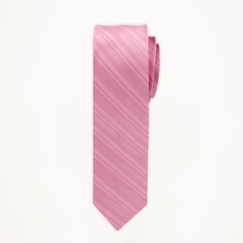 Rose Petal Striped Long Tie