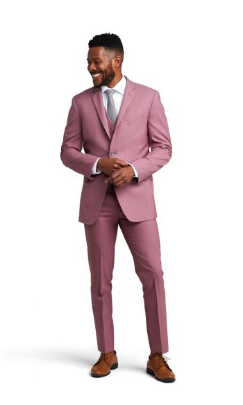 Rose Pink Notch Lapel Suit