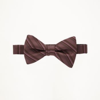 Rosewood Striped Bow Tie