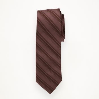 Rosewood Striped Long Tie