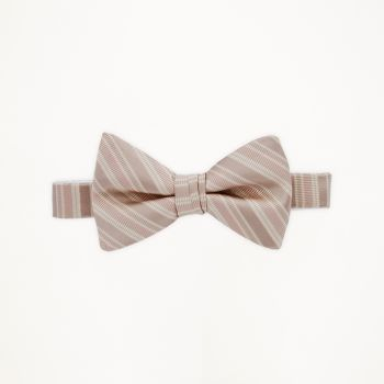 Rum Pink Striped Bow Tie