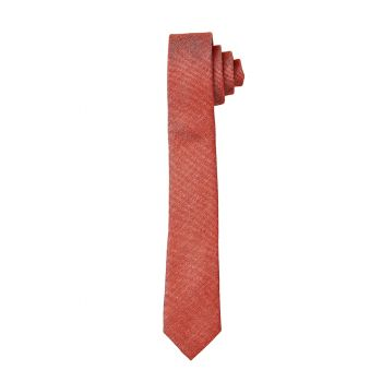 Rust Matte Self Long Tie