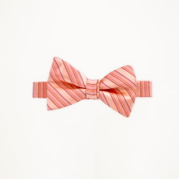 Salmon Striped Bow Tie