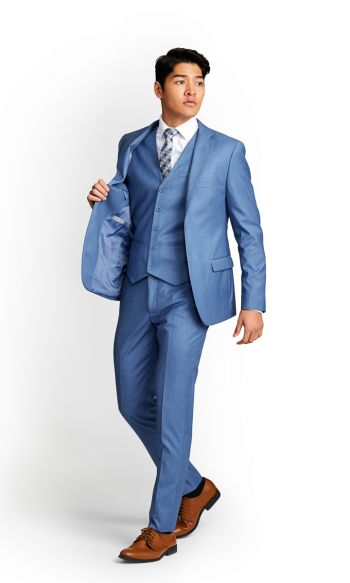 Sky Blue Slim Fit Suit