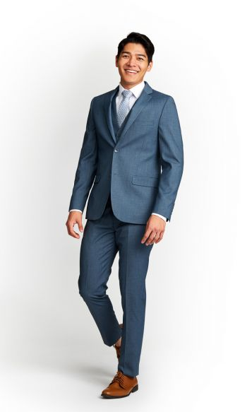 Steel Blue Slim Fit Suit