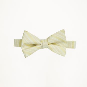 Straw Striped Bow Tie