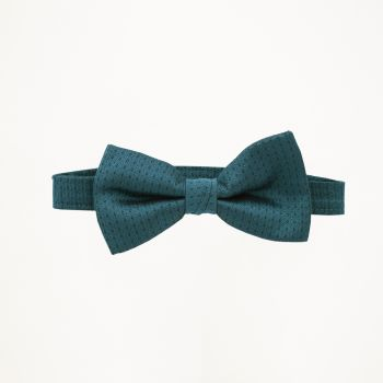 Teal Pindot Bow Tie
