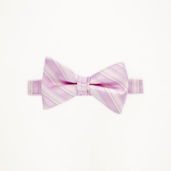Tickled Pink Striped Bow Tie