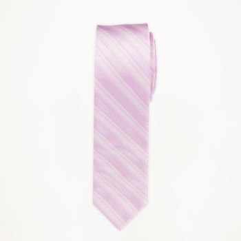 Tickled Pink Striped Long Tie