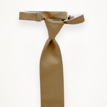Toffee Solid Long Tie