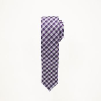 Purple Checkered Tie