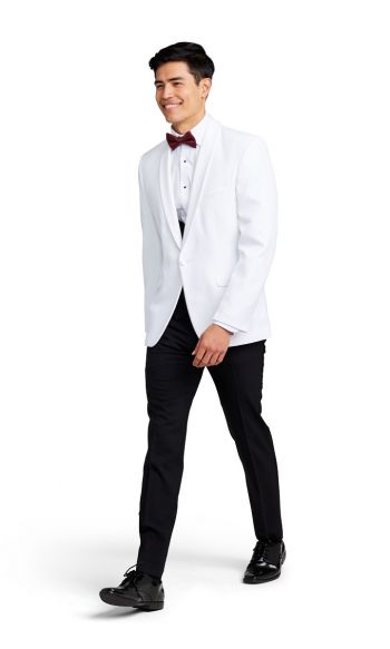 White Shawl Lapel Dinner Jacket