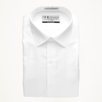 White Cotton Rich Laydown Collar Shirt
