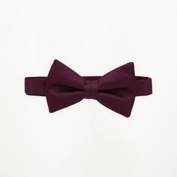 Wine Solid Bow Tie
