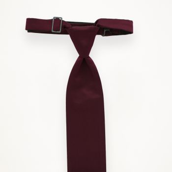 Wine Solid Long Tie