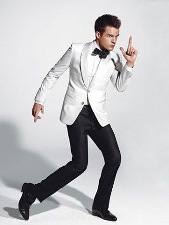 friar tux, friar tux celebrations, prom, prom styles, james bond, white dinner jacket